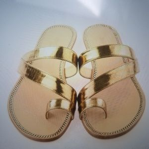 Jimmy Choo authentic Noosa gold metallic sandals